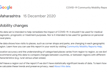 COVID-19 Community Mobility Report